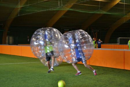 Indoor Bubble Football for my Hamburg Hen Party | Maximise Hen Weekends