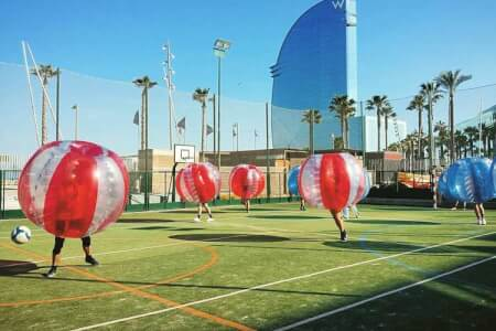 Bubble Football for my Barcelone Stag Do | Maximise Stag Weekends