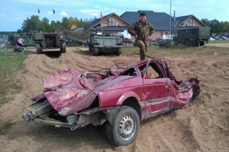 Tank Drive & Car Destruction