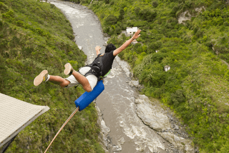 Bungee jumping stag do in Riga with Maximise