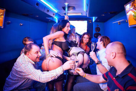 Stretch limo & Strip, stag do in Brussels Maximise