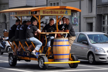 Beer Bike Vilnius stag do Maximise
