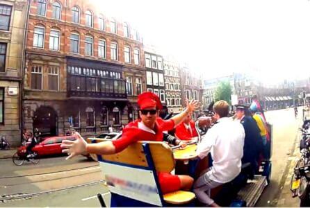 Beer Bike pour mon EVG à Amsterdam | Enterrement de vie de garçon | idée enterrement de vie de garçon | activité enterrement de vie de garçon | idée evg | activité evg