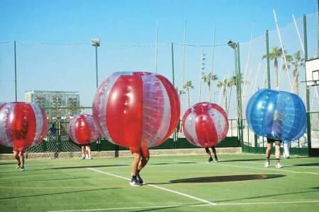 Bubble Fußball für meinen JGA in Barcelone   Junggesellenabschied