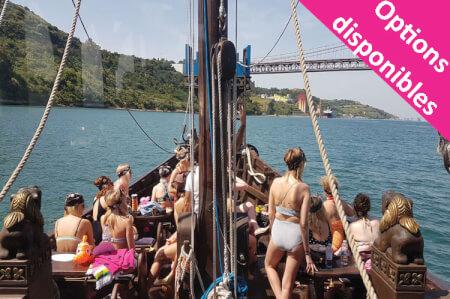 Navire traditionnel & Strip pour mon EVJF à Lisbonne | Enterrement de vie de jeune fille | idée evjf | idée enterrement de vie de jeune fille | activité evjf |activité enterrement de vie de jeune fille