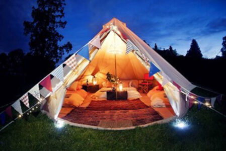 Glamping Manchester for your hen weekend with hen Maximise
