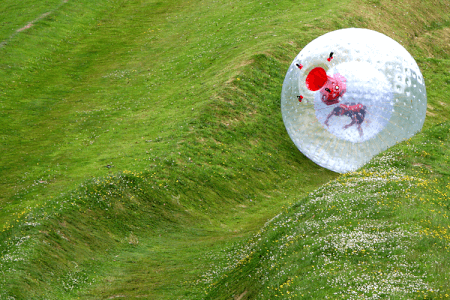 Zorbing Newcastle for your hen weekend with hen Maximise