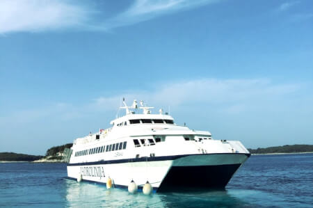 Catamaran transfers from Split to Hvar for my Hvar Hen Party | Maximise Hen Weekends