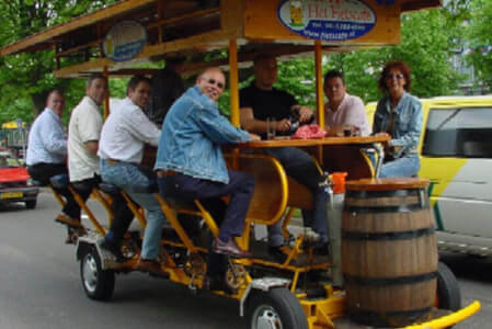 Mini Beer Bike for my Munich Hen Party | Maximise Hen Weekends