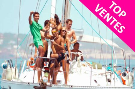 Catamaran Party pour mon EVG à Barcelone | Enterrement de vie de garçon | idée enterrement de vie de garçon | activité enterrement de vie de garçon | idée evg | activité evg