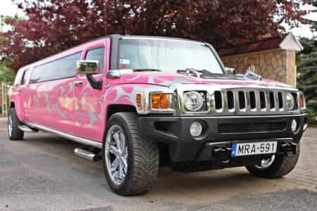 Pink Hummer Limo & Strip, Budapest hen weekend