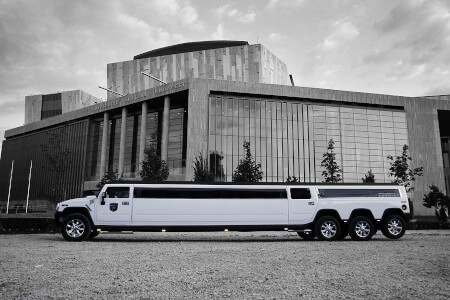 White XXL Hummer Airport Transfer