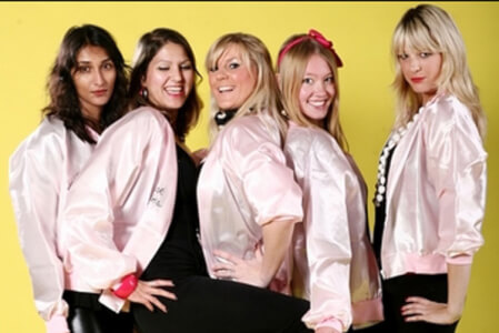 Grease Girls Dance Party in Swansea for your hen party with hen maximise