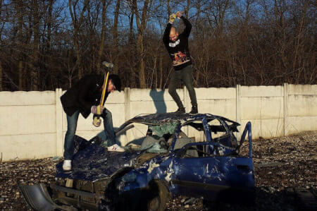 Car Smash für meinen JGA in Budapest | Junggesellenabschied