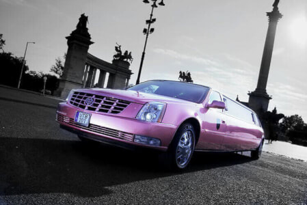 Pink Limo Airport Transfers for my Budapest Hen Party | Maximise Hen Weekends