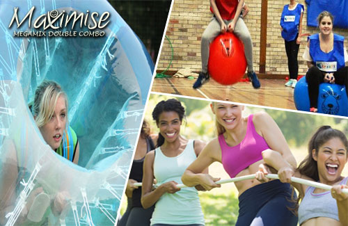 Megamix Double Combo London for your hen weekend with hen Maximise