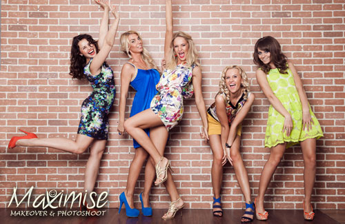 Makeover & Photo Shoot with Hair Styling Birmingham for your maximise hen party