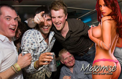 Party Bus & Lap Club Package Newcastle for your stag weekend with stag Maximise