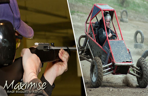 Rage Buggies and Assault Rifles Bournemouth for your maximise stag party