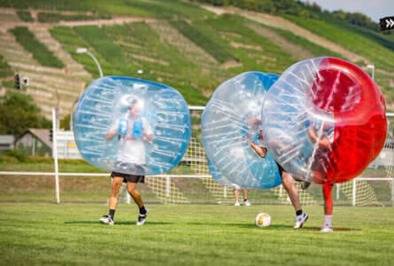 Bubble Football Outdoor für meinen JGA in Frankfurt, Germany