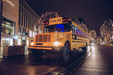 American School Pary Bus Airport Transfer for my Hamburg Stag Do | Maximise Stag Weekends