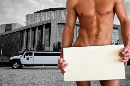 Hummer Airport Transfer with Stripper