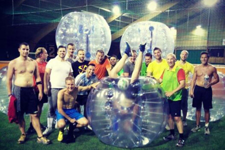 Indoor Bubble Football for my Hamburg Stag Do | Maximise Stag Weekends