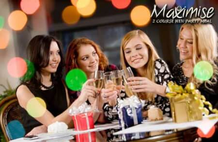 2 Course Hen Party Meal in Newcastle for your hen party with hen maximise