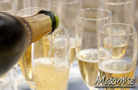 3 Course Meal with Unlimited Prosecco York for your hen party with hen maximise