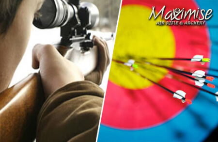 Archery & Air Rifle Shooting Manchester for your stag weekend with stag Maximise