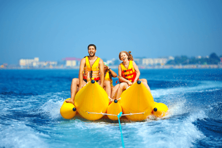 Banana Boat for my Barcelone Hen Party | Maximise Hen Weekends