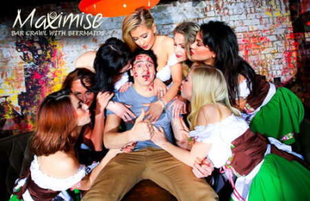 Bar Crawl with Beer Maid Beauties Leeds for my Leeds(Maximise) Stag Do | Maximise Stag Weekends