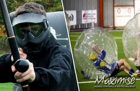 Bubble Football & Combat Archery for my Southampton(Maximise) Stag Do | Maximise Stag Weekends