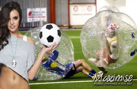 Bubble Football with Sexy Referee  for my Cardiff(Maximise) Stag Do | Maximise Stag Weekends