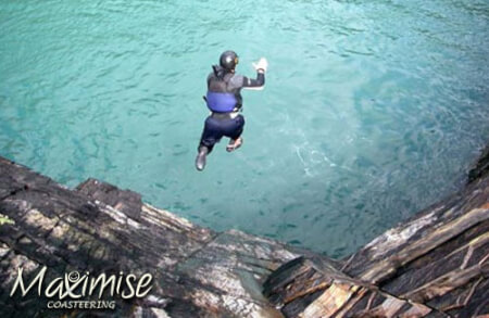 Coasteering Bournemouth for your maximise stag party