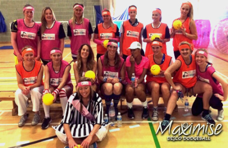 Disco Dodgeball in Swansea for your hen party with hen maximise