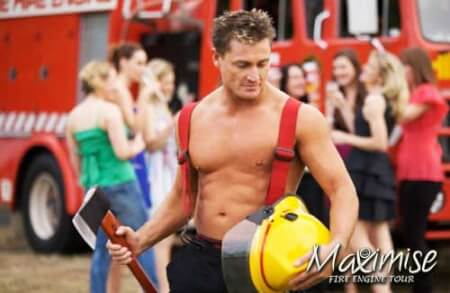 Fire Engine Tour Bournemouth for your maximise hen party