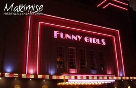 Funny Girls Show with 3 Course Meal blackpool for your maximise hen party