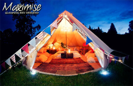 Glamping in York for your hen party with hen maximise