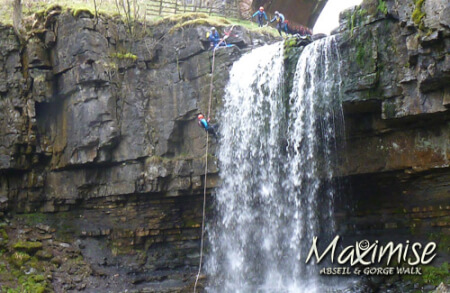 Gorge Scrambling, Climbing and Abseiling cardiff for your maximise stag party