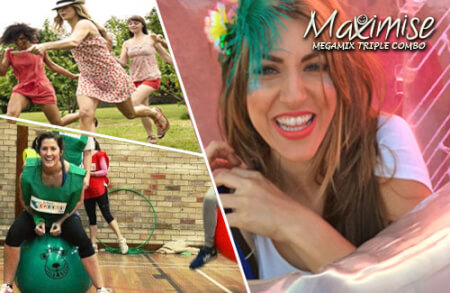 Megamix Plus Triple Combo in Swansea for your hen party with hen maximise