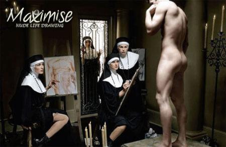 Nude Drawing Paris hen do Maximise