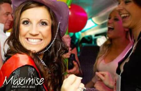Hen Party on a Bus Bournemouth for your maximise hen party