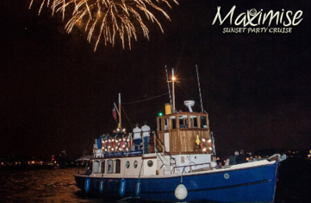 Sunset Party Cruise Bournemouth for my maximise hen party