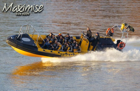High Speed RIB Ride Cardiff for your maximise stag party