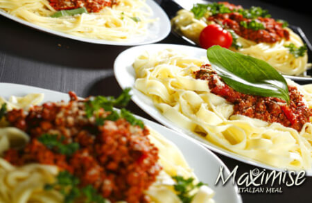 2 Course Italian Meal Cardiff for your maximise stag party