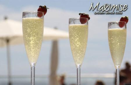 Kaluna Beach Club Entry with Champagne