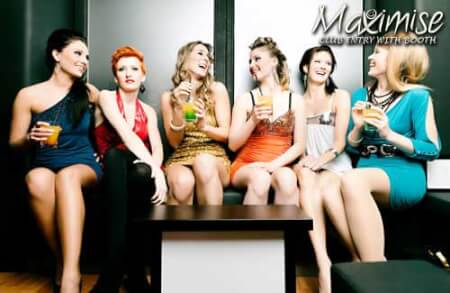 Nightclub Entry with Booth cardiff for your maximise hen party