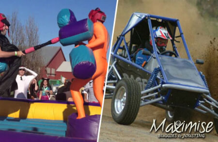 Off Road Buggies & Pole Jousting Newcastle for your stag weekend with stag Maximise