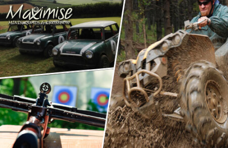 Off Road Minis, Quads & Crossbow Bournemouth for your maximise stag party
